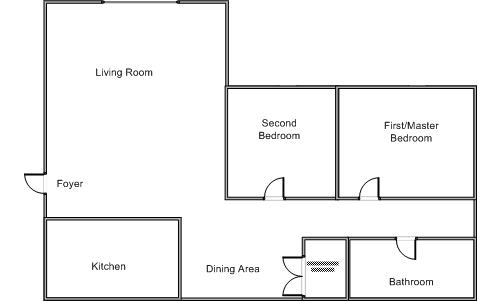 Spout run terrace example floor plan Bad floor plans examples